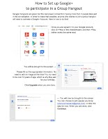 A clickable link to the PDF version of how to set up Google+ to participate in a Group Hangout